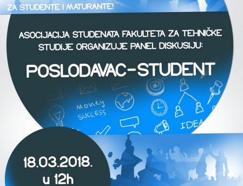 """Panel diskusija na temu """"Poslodavac-student"""""""