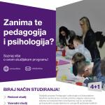 Predstavljamo studijski smjer Pedagogija i psihologija
