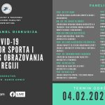 Najavljujemo Online panel diskusiju iz oblasti sporta