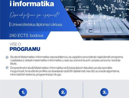 Studij Matematike i informatike na Edukacijskom fakultetu